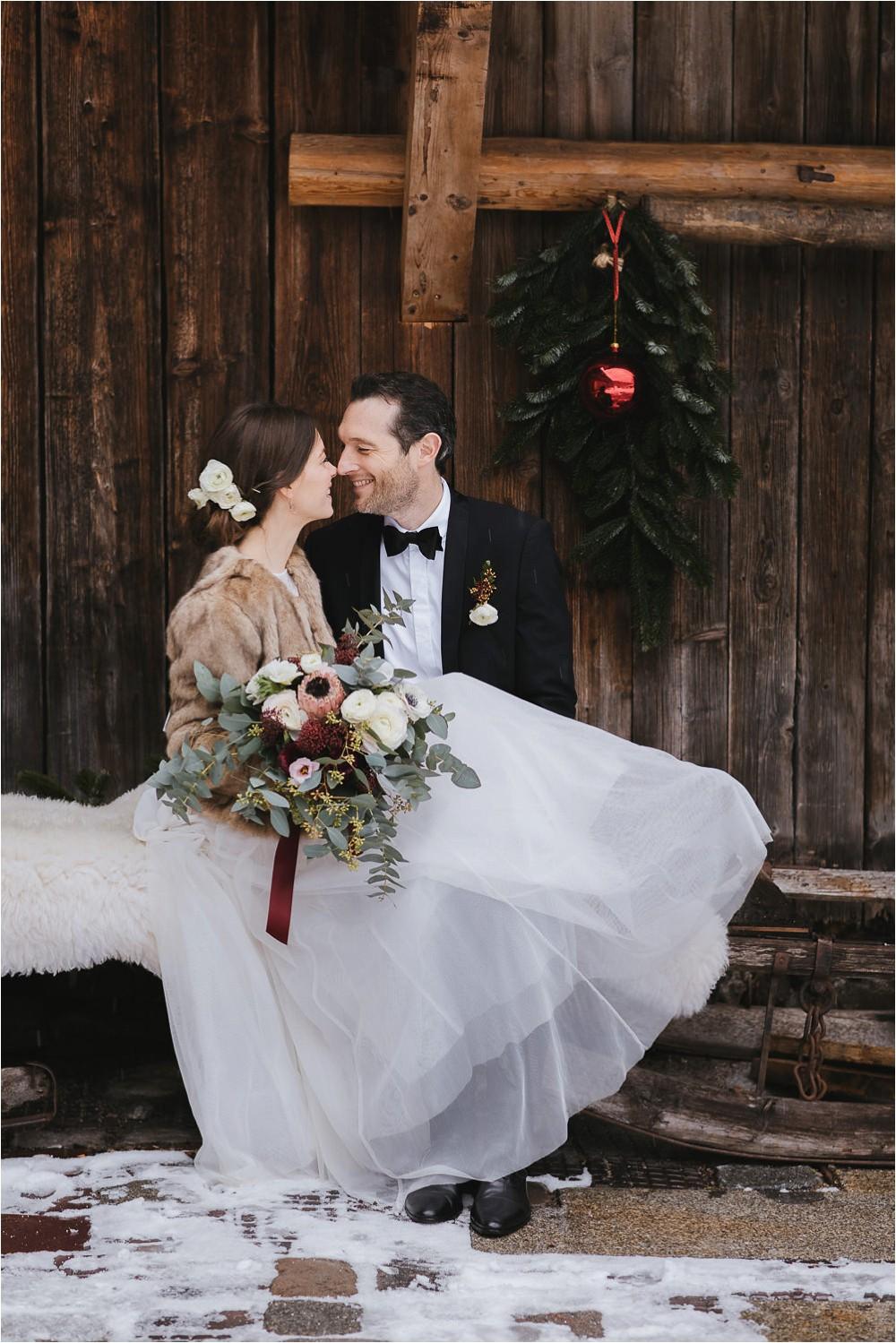 Romantische Winterhochzeit im Hasenöhrlhof - Ulrike Schwille Fotografie