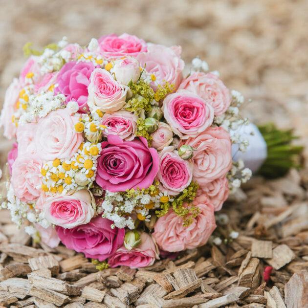 Brautstrauß rosa, pink, weiss